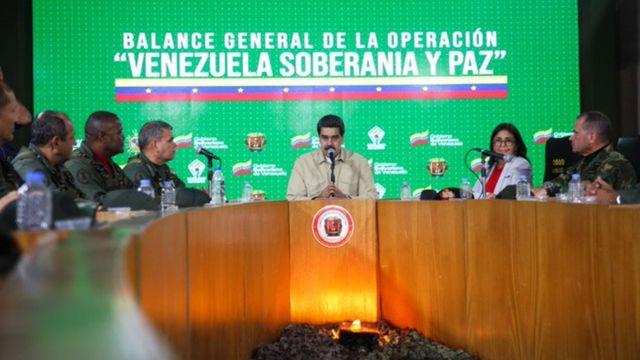 Nicolás Maduro y el Alto Mando Militar