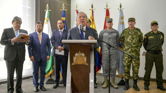 El ministerio de Defensa emitió un comunicado al respecto.
