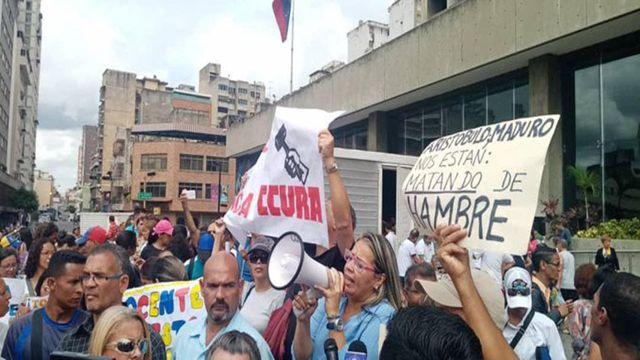 Griselda Sánchez, Vocera del Sindicato Venezolano de Maestro.