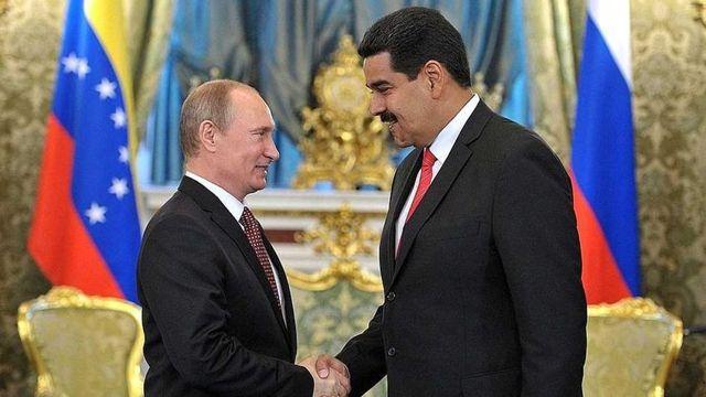Vladimir Putin y Nicolás Maduro.