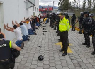 Venezolanos detenidos en Ecuador.