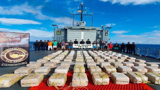 Armada de Colombia incautó dos toneladas de cocaína en el Caribe