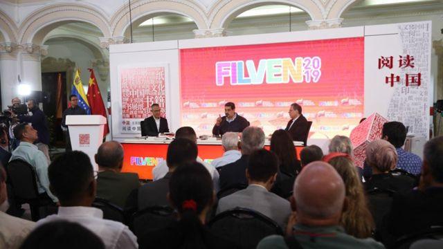 Maduro inauguró la Filven 2019 en Caracas.