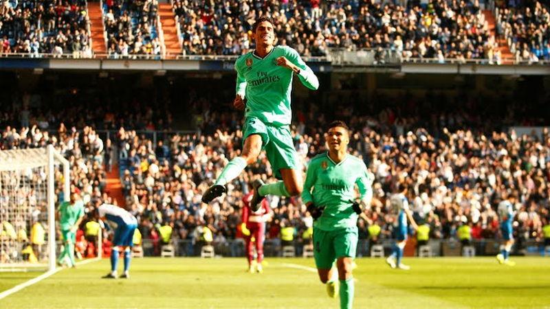 Real Madrid venció a Espanyol con goles de Varane y Benzema