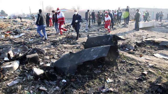 Avión ucraniano derribado en Teherán.