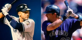 Derek Jeter y Larry Walker