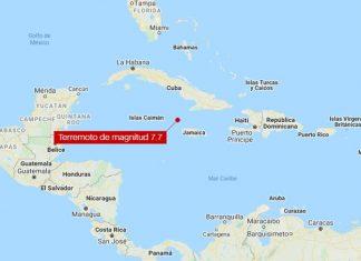 Teremoto entre Jamaica y Cuba