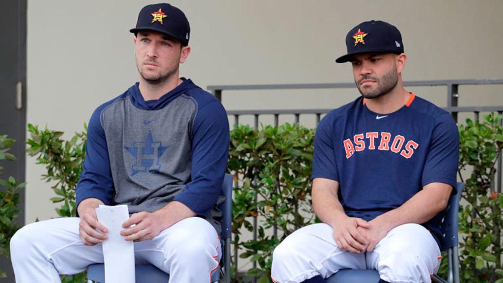 Estrellas de los Astros se disculparon por robo de señales en 2017