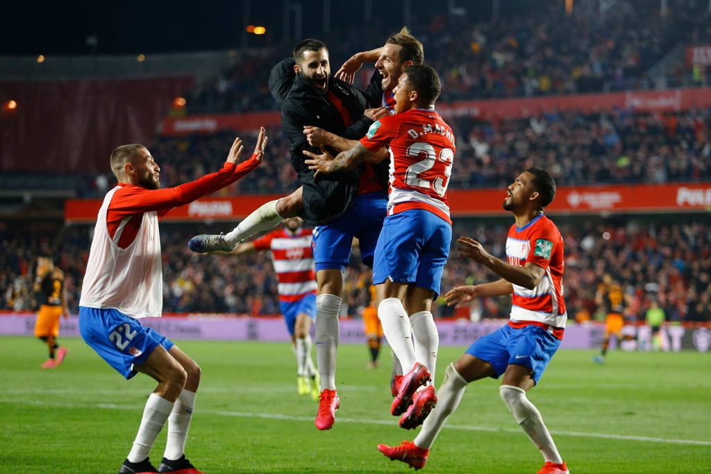 El Granada de Yangel Herrera y Darwin Machís avanza a semifinales de Copa del Rey.