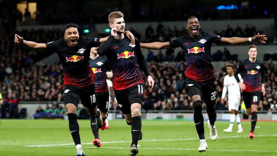 El Leipzig venció al Tottenham en la Champions