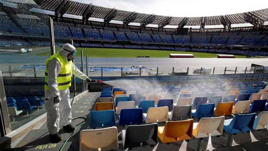 Suspendidos los eventos deportivos en Italia. Qué pasará con la Serie A.