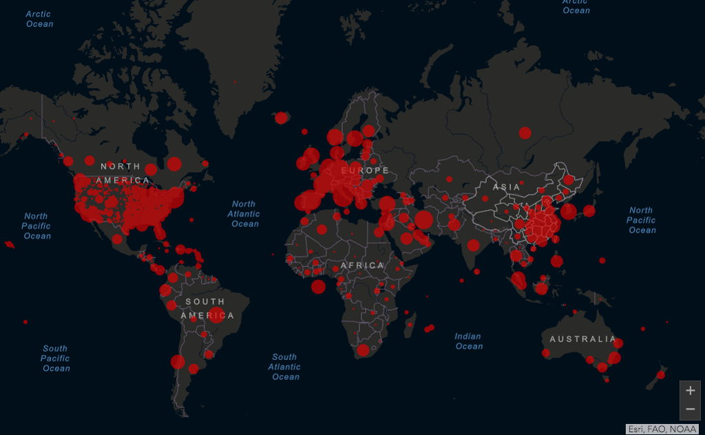 Países sin casos de coronavirus