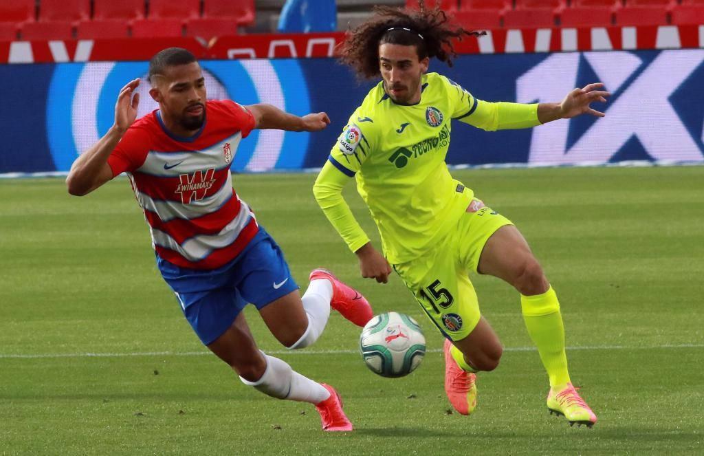 Granada gana 2-1 a Getafe y se lleva los tres puntos