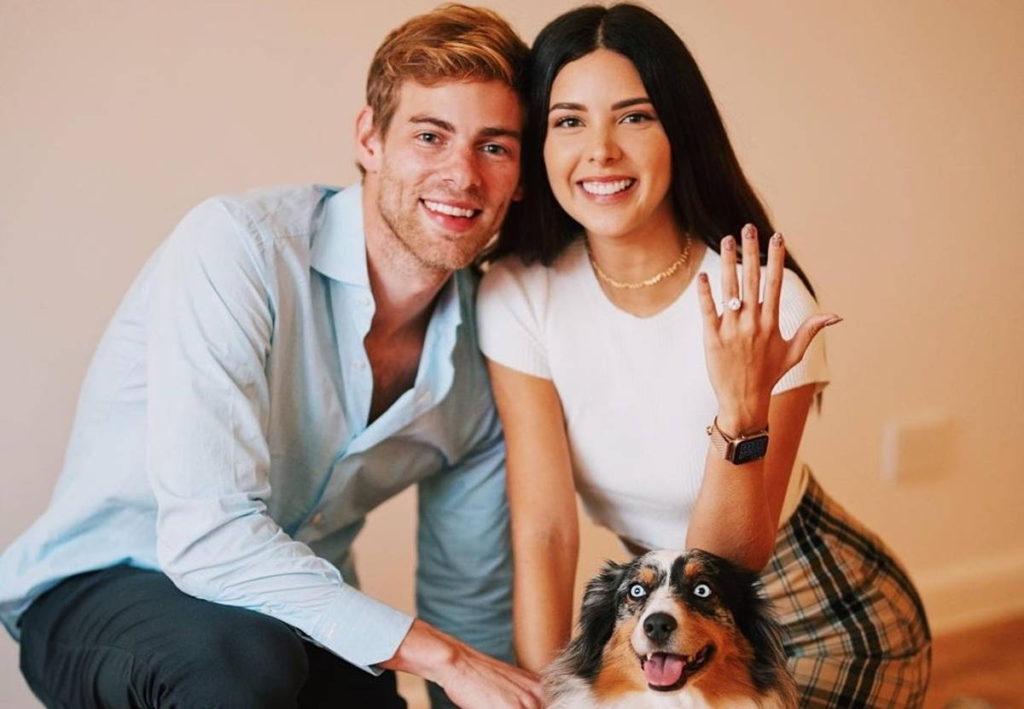 Sheryl Rubio y su prometido