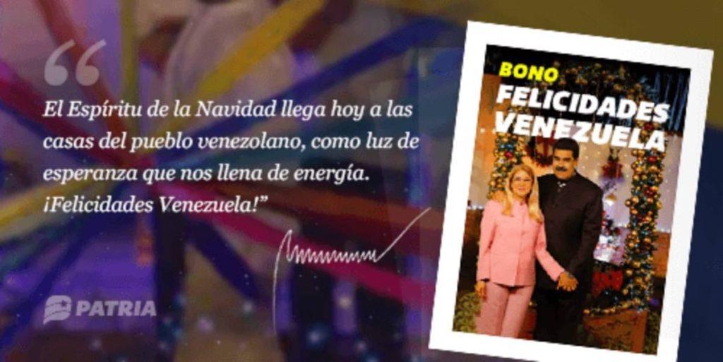 Bono Felicidades Venezuela