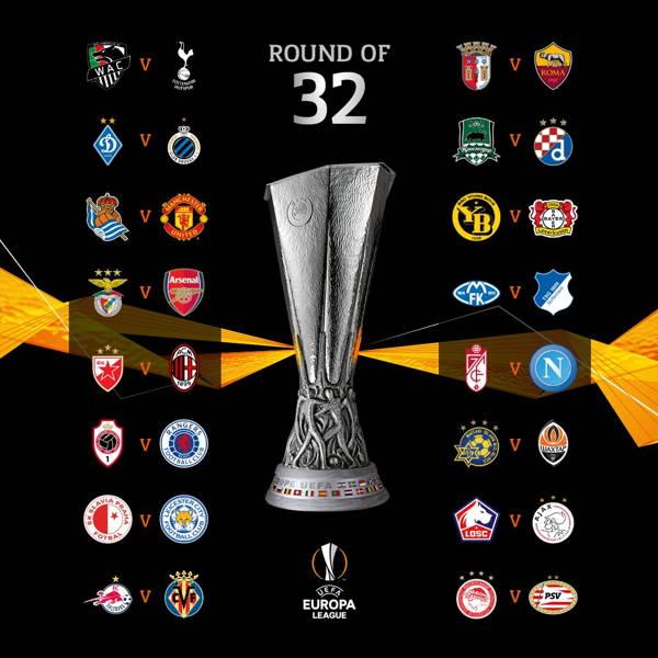 Sorteo de los dieciseisavos de final de Europa League