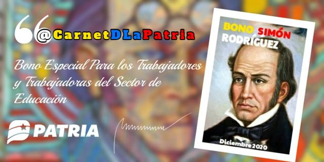 monto del Bono Simón Rodríguez