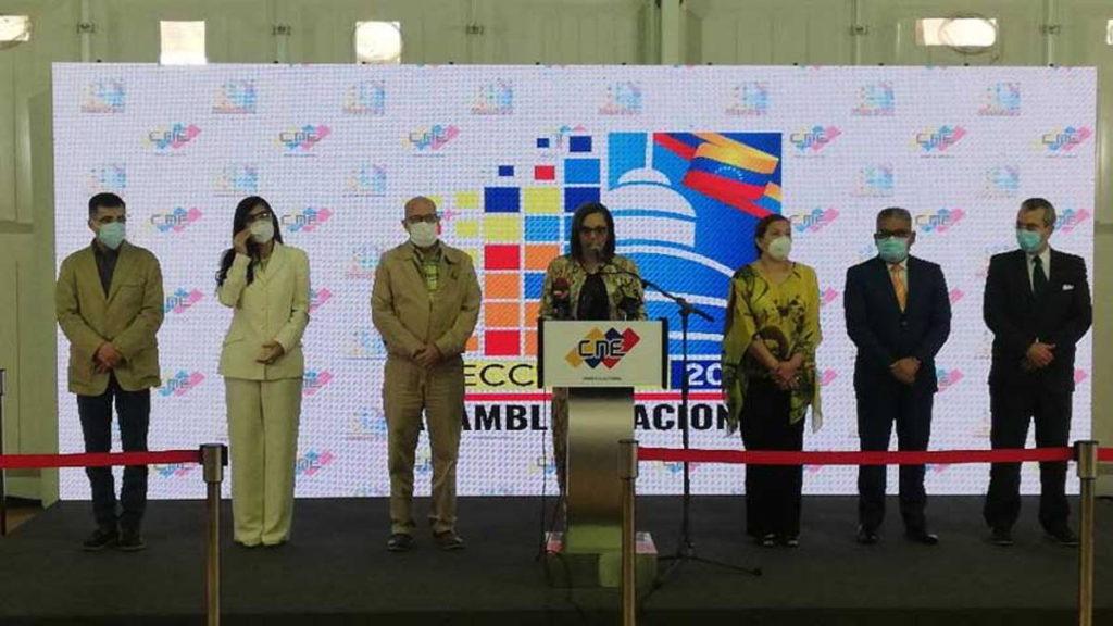 CNE ofreció el primer boletín de las elecciones parlamentarias