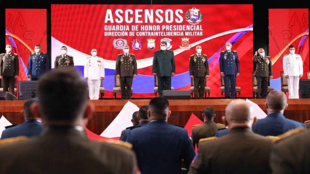 Maduro en acto de ascensos