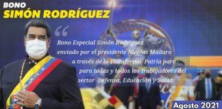 Bono Simón Rodríguez agosto